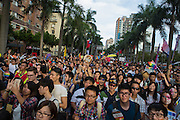 Tens of thousands of people tak epart in the annual LGBT Pride parade.