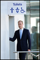 The Duke of Cambridge Prince William, The Commodore-in-Chief Submarines, goes to the Toilet during a visit to The Royal Navy Submarine Museum in Gosport, Hampshire, United Kingdom. Monday, 12th May 2014. Picture by Andrew Parsons / i-Images