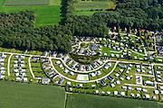 Nederland, Overijssel, Frederiksoord, 27-08-2013; familiecamping De Moesberg met stacaravans.<br /> Family camping in the east of the Netherlands. <br /> luchtfoto (toeslag op standaard tarieven);<br /> aerial photo (additional fee required);<br /> copyright foto/photo Siebe Swart.