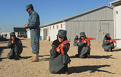 Afghan policewomen take part in their training at a training centre in Herat province of western Afghanistan, December 25, 2012. Photo by Imago / i-Images...UK ONLY