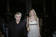 Nick Rhodes and Meredith Ostron, Gilbert and George Major Exhibition. Tate Modern. Afterwards dinner at Christchurch Spitafields. London. 13 February 2007.  -DO NOT ARCHIVE-© Copyright Photograph by Dafydd Jones. 248 Clapham Rd. London SW9 0PZ. Tel 0207 820 0771. www.dafjones.com.