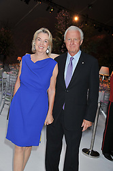 GALEN & HILARY WESTON at a dinner hosted by Cartier following the following the opening of the Chelsea Flower Show 2012 held at Battersea Power Station, London on 21st May 2012.