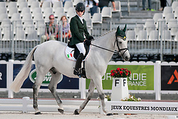 Helen Kearney riding Mister Cool in the Grade 1a Para-Dressage at the 2014 World Equestrian Games, Caen, Normandy, France..