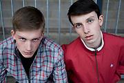 Two Teenagers At Football Stadium
