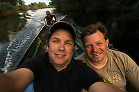 Boat ride on Danube Delta, Romania. In the images Christian Mititelu, Magnus Lundgren & fisherman Florin Moisa.