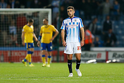 Tommy Smith of Huddersfield looks frustrated at the end of the game with the score 0-0 - Photo mandatory by-line: Rogan Thomson/JMP - 07966 386802 - 16/09/2014 - SPORT - FOOTBALL - Huddersfield, England - The John Smith's Stadium - Huddersfield Town v Wigan Athletic - Sky Bet Championship.