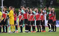 Fussball  Regionlaliga Suedwest 2018/2019  2. Spieltag  02.08.2019 TSG Balingen - TSG 1899 Hoffenheim II TSG Balingen Team beim Shake Hands vor dem Spiel