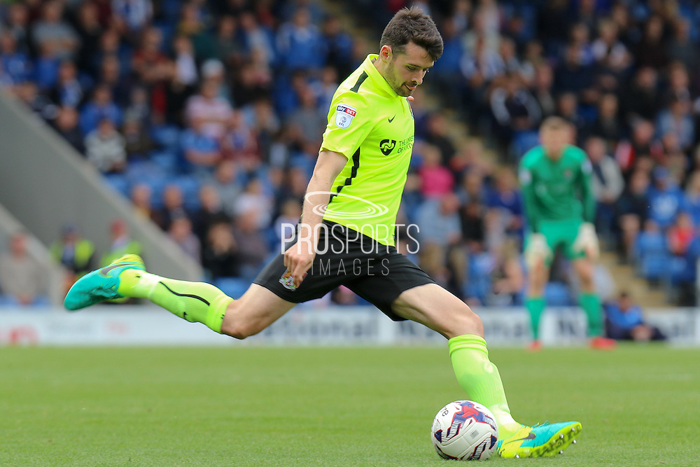 Northampton defender Brendan Moloney (2) strikes the ball during the EFL Sky Bet League 1 match between Chesterfield and Northampton Town at the Proact stadium, Chesterfield, England on 17 September 2016. Photo by Aaron  Lupton.
