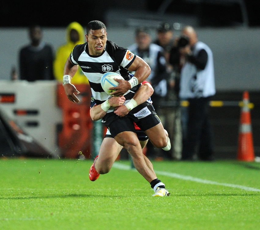 Hawkes Bays' Penikolo Latu against Tasman in the ITM Cup Championship Final at Trafalgar Park, Nelson, New Zealand, Friday, October 25, 2013. Credit:SNPA / Ross Setford