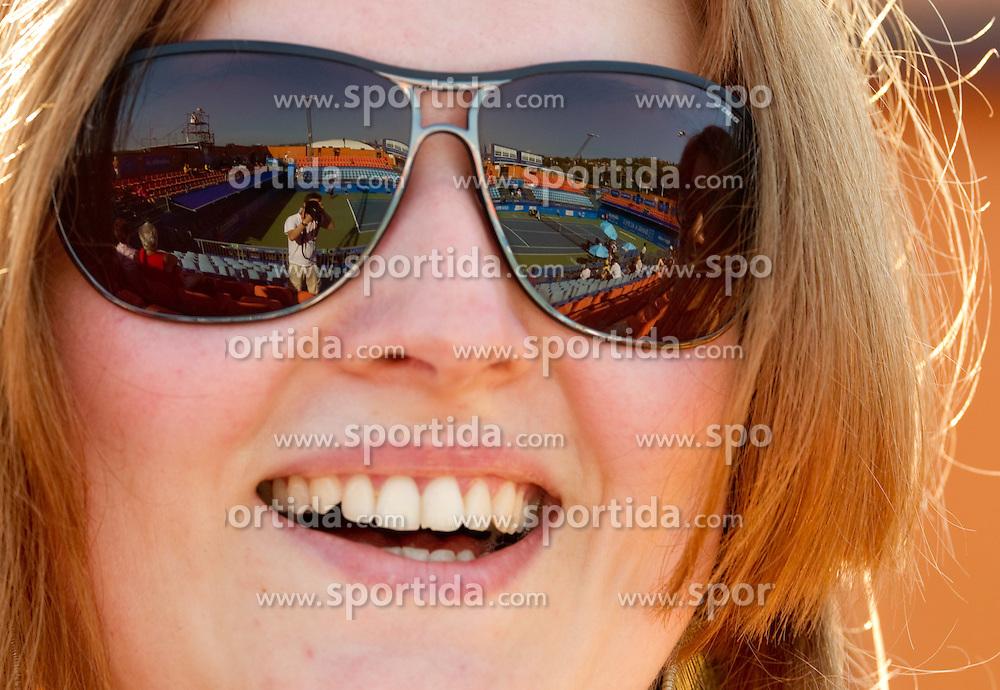 Court in sun glasses at 2nd Round of Singles at Banka Koper Slovenia Open WTA Tour tennis tournament, on July 21, 2010 in Portoroz / Portorose, Slovenia. (Photo by Vid Ponikvar / Sportida)
