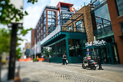 "WASHINGTON DC - June, 9:<br /> <br /> Patrons explore the District Wharf in the Southwest Waterfront neighborhood of Washington DC, Saturday, June 9, 2018. <br /> <br /> The Wharf is DC's latest attempt to be a ""real"" city. It took multiple agencies and act of congress to get it built. Did they repeat the mistakes of urban renewal (which moved lower income people out of the neighborhood)? Yes and no. People will still be driven out, but this time around the neighborhood is integrated more.<br /> (Photo by Matt Roth for The Washington Post)"