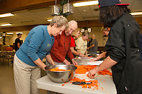Hazel Duke Thanksgiving Day dinner preparations at the Congregational Church in Laconia.  Karen Bobotas for the Laconia Daily Sun