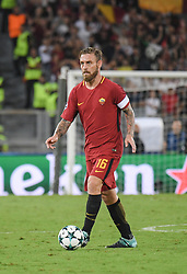 September 12, 2017 - Rome, Lazio, Italy - Daniele De Rossi during the UEFA Champions League group C football match AS Roma vs Atletico Madrid FC at the Olympic Stadium in Rome, on september 12, 2017. (Credit Image: © Silvia Lore/NurPhoto via ZUMA Press)
