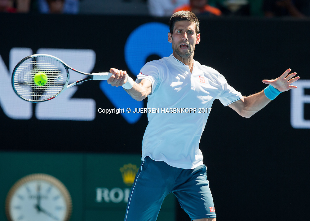 NOVAK DJOKOVIC (SRB)<br /> <br /> Australian Open 2017 -  Melbourne  Park - Melbourne - Victoria - Australia  - 19/01/2017.
