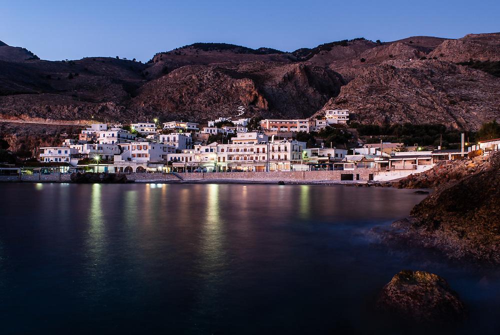 Twilight Chora Sfakion, Crete