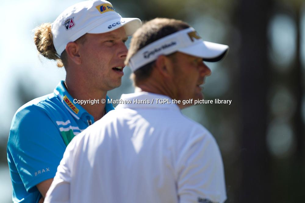 Marcel SIEM (GER) and Alex CEJKA (GER) Wednesday practice US Open Championship 2014,Pinehurst No 2,Pinehurst,North Carolina,USA.