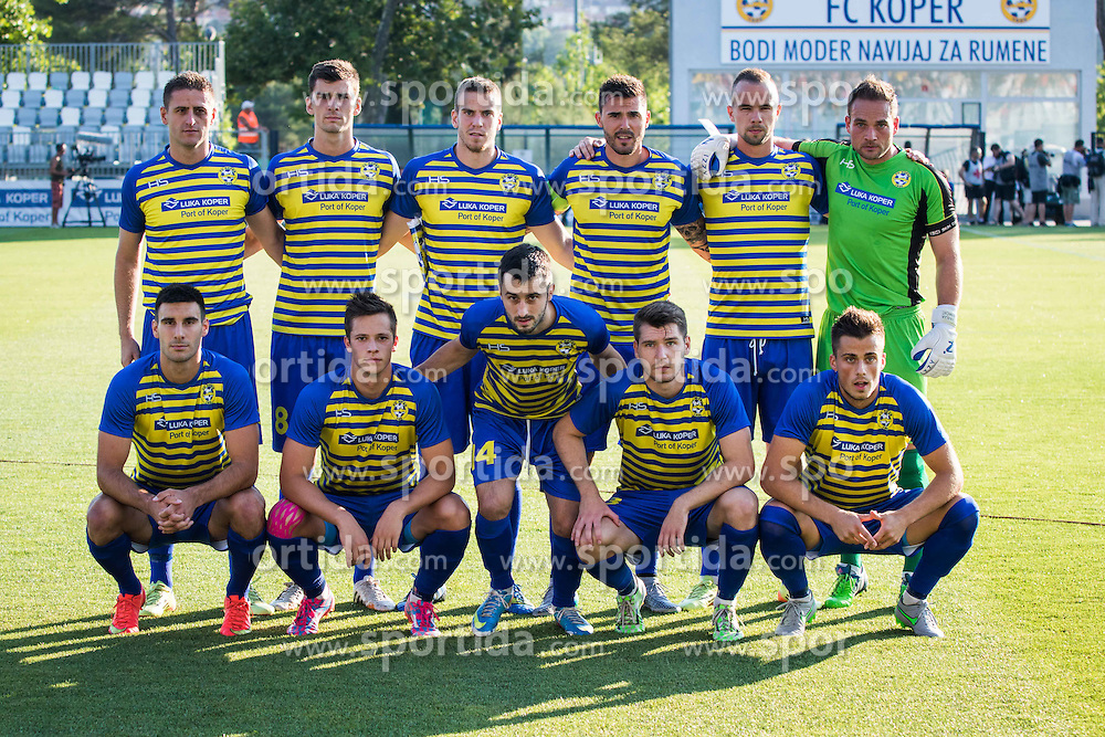 Team Fc Koper before football match between FC Luka Koper and HNK Hajduk Split (CRO) in Second qualifying round of UEFA Europa League, on July 16, 2015 in Stadium Bonifika, Koper, Slovenia. Photo by Ziga Zupan / Sportida