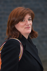 London, March 10th 2015. Ministers arrive at the weekly cabinet meeting at 10 Downing Street. PICTURED: Nicky Morgan, Secretary of State for Education, Minister for Women and Equalities