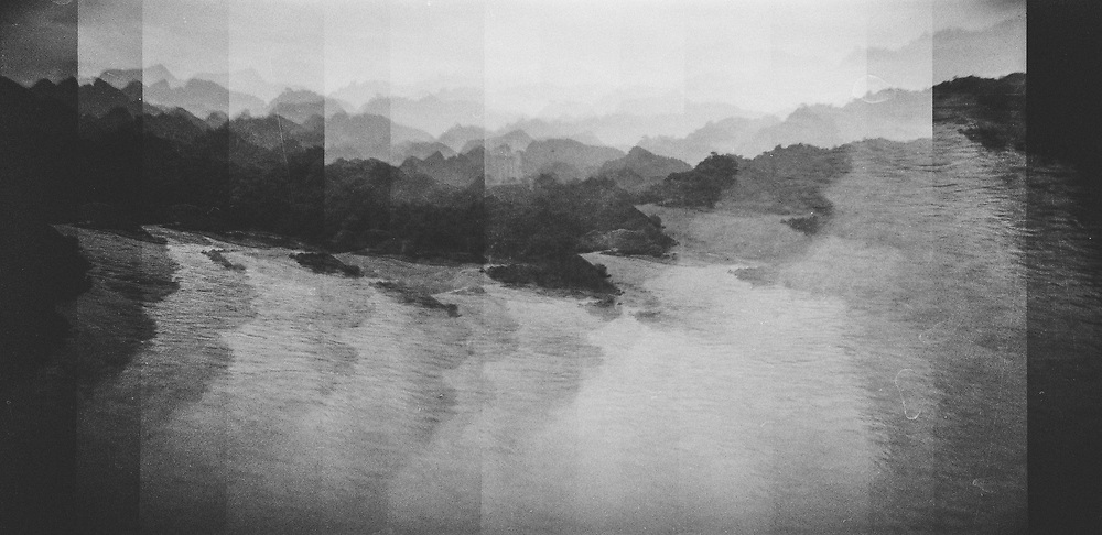 A panoramic image of mountains in northern Vietnam.