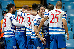 Joey Barton celebrates after Charlie Austin of QPR scores a goal to make it 2-3 - Photo mandatory by-line: Rogan Thomson/JMP - 07966 386802 - 07/04/2015 - SPORT - FOOTBALL - Birmingham, England - Villa Park - Aston Villa v Queens Park Rangers - Barclays Premier League.
