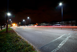 UK ENGLAND LONDON 24NOV10 - LED street lighting test site on the A40 Western Avenue, Greenford, west London...Light-emitting diode (LED) lamps, combined with smart controls, can cut CO2 emissions 50 to 70%. Lighting accounts for nearly 10% of global CO2 emissions, more than cars worldwide...jre/Photo by Jiri Rezac..© Jiri Rezac 2010