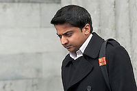 08/04/2013 XXjob Praveen Halappanavar leaving Galway Coroner Court for the Inquest into the death of his wife Savita at Galway University Hospital. Picture:Andrew Downes.