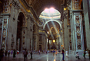 St Peter's Basilica inside the Vatican, Vatican City, Italy RESERVED USE - NOT FOR DOWNLOAD -  FOR USE CONTACT TIM GRAHAM