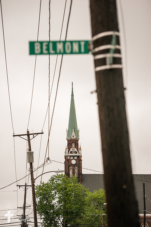 A vacant church anchors an inner city neighborhood on Thursday, July 9, 2015, in Toledo, Ohio. LCMS Communications/Erik M. Lunsford