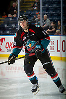KELOWNA, CANADA - SEPTEMBER 22: Tomas Soustal #15 of the Kelowna Rockets warms up against the Kamloops Blazers on September 22, 2017 at Prospera Place in Kelowna, British Columbia, Canada.  (Photo by Marissa Baecker/Shoot the Breeze)  *** Local Caption ***