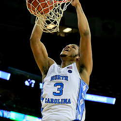 Nov 11, 2016; New Orleans, LA, USA;  North Carolina Tar Heels forward Kennedy Meeks (3) dunks against the Tulane Green Wave during the second half of a game at the Smoothie King Center. North Carolina defeated Tulane 95-75. Mandatory Credit: Derick E. Hingle-USA TODAY Sports