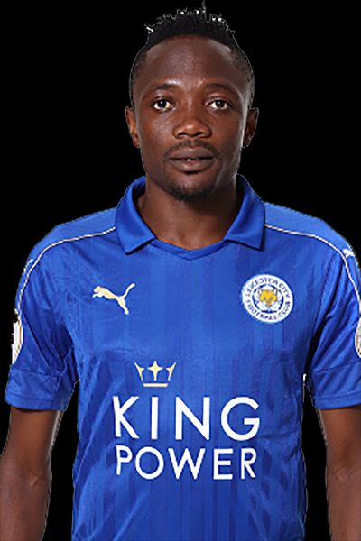 LEICESTER, ENGLAND - JULY 21: Ahmed Musa during Leicester City Official Portraits at Belvoir Drive Training Complex on July 21 , 2016 in Leicester, United Kingdom.  (Photo by Plumb Images/Leicester City FC via Getty Images)