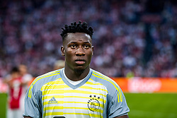 14-08-2018 NED: Champions League AFC Ajax - Standard de Liege, Amsterdam<br /> Third Qualifying Round,  3-0 victory Ajax during the UEFA Champions League match between Ajax v Standard Luik at the Johan Cruijff Arena / Andre Onana #1 of Ajax