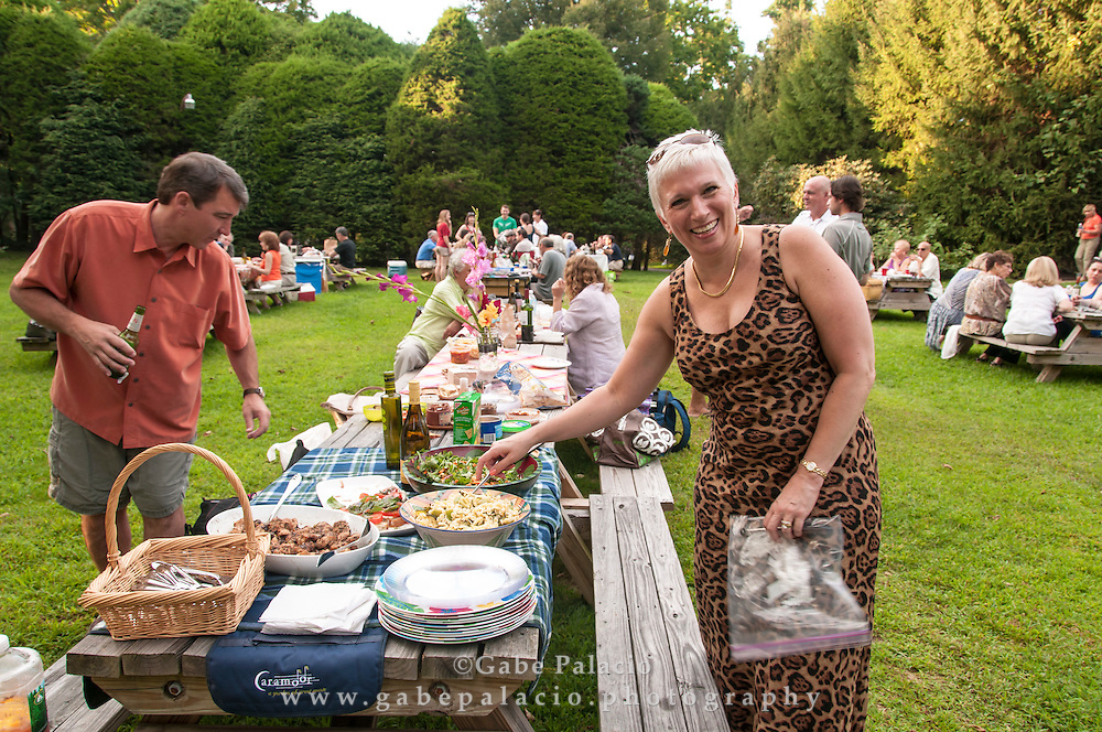 Picnickers on the gounds at Caramoor in Katonah New York.photo by Gabe Palacio