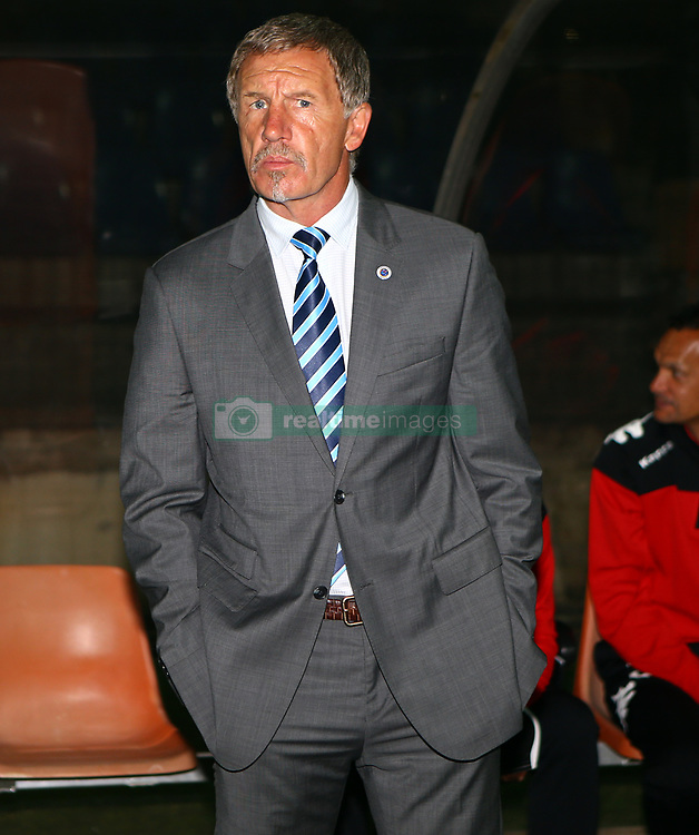 Stuart Baxter (Head Coach) of SuperSport United during the 2016 Premier Soccer League match between Maritzburg Utd and SuperSport United held at the Harry Gwala Stadium in Pietermaritzburg, South Africa on the 21st September 2016<br /> <br /> Photo by:   Steve Haag / Real Time Images