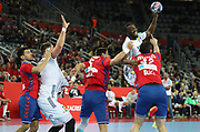 Luc Abalo (France) during the EHF 2018 Men's European Championship, 2nd Round, Handball match between Serbia and France on January 22, 2018 at the Arena in Zagreb, Croatia - Photo Laurent Lairys / ProSportsImages / DPPI