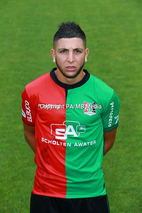 Mohamed Rayhi during the team presentation of NEC Nijmegen on July 08, 2015 at the Goffert stadium in Nijmegen, The Netherlands