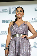 June 30, 2012-Los Angeles, CA : Actress/TV Personality La La Vasquez Anthony attends the 2012 BET Awards- Media Room held at the Shrine Auditorium on July 1, 2012 in Los Angeles. The BET Awards were established in 2001 by the Black Entertainment Television network to celebrate African Americans and other minorities in music, acting, sports, and other fields of entertainment over the past year. The awards are presented annually, and they are broadcast live on BET. (Photo by Terrence Jennings)