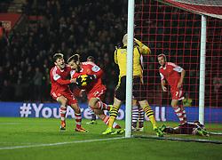 Southampton's Pablo Daniel Osvaldo celebrates his goal to make it 2-2 - Photo mandatory by-line: Alex James/JMP - Tel: Mobile: 07966 386802 04/12/2013 - SPORT - Football - Southampton - St Mary's Stadium - Southampton v Aston Villa - Barclays Premier League
