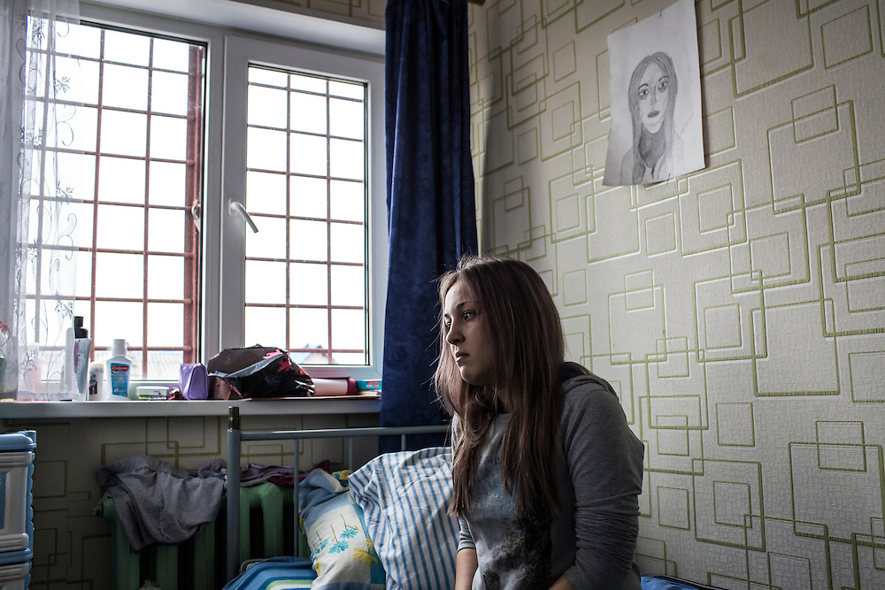 YEKATERINBURG, RUSSIA - OCTOBER 16: Alya, 17, undergoes treatment for addiction to drugs including heroin, krokodil, and others at City Without Drugs on October 16, 2013 in Yekaterinburg, Russia. City Without Drugs is a well-known narcotics treatment program in Russia founded by Yevgeny Roizman, who was elected mayor of Yekaterinburg in September 2013. (Photo by Brendan Hoffman/Getty Images) *** Local Caption ***