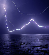Bondi Storm. lightning over the sea. Photography of Bondi Beach by Paul Green, View from Marks Park, Storm Chasing