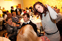 Sonja Roman, Uros Zager and Alenka Bikar during the Slovenia's Athlete of the year award ceremony by Slovenian Athletics Federation AZS, on November 12, 2008 in Hotel Mons, Ljubljana, Slovenia.(Photo By Vid Ponikvar / Sportida.com) , on November 12, 2010.