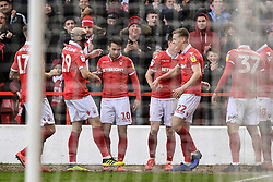 March 9, 2019 - Nottingham, England, United Kingdom - Joao Carvalho (10) of Nottingham Forest celebrates after scoring a goal to make it 1-0 during the Sky Bet Championship match between Nottingham Forest and Hull City at the City Ground, Nottingham on Saturday 9th March 2019. (Credit Image: © Jon Hobley/NurPhoto via ZUMA Press)