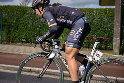 Chloe Hosking (Wiggle Hi5) at Dwars door de Westhoek 2016. A 127km road race starting and finishing in Boezinge, Belgium on 24th April 2016.