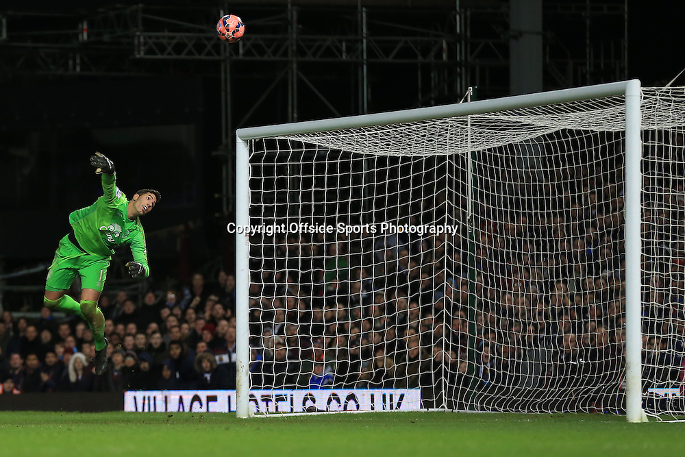 13 January 2015 - The FA Cup 3rd Round (Replay)  - West Ham v Everton - Joel Robles of Everton makes a fine save late in injury time - Photo: Marc Atkins / Offside.