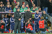 Sunderland Manager Sam Allardyce in a minutes silence for Paris  during the Barclays Premier League match between Crystal Palace and Sunderland at Selhurst Park, London, England on 23 November 2015. Photo by Simon Davies.