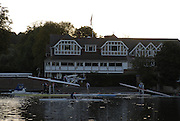 Henley on Thames,  Boats, boating from Leander club, for an early morning training session on the River Thames at Henley 07/10/2006.  Photo, Peter Spurrier/Intersport-images].