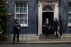 © Licensed to London News Pictures. 17/12/2019. London, UK. Lord Chancellor and Secretary of State for Justice Robert Buckland and Secretary of State for Digital, Culture, Media and Sport Nicky Morgan leaving Downing Street after attending a Cabinet meeting this morning. Photo credit : Tom Nicholson/LNP