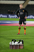 Hull City forward Jarrod Bowen (20) in warm up during the EFL Sky Bet Championship match between Hull City and Swansea City at the KCOM Stadium, Kingston upon Hull, England on 22 December 2018.