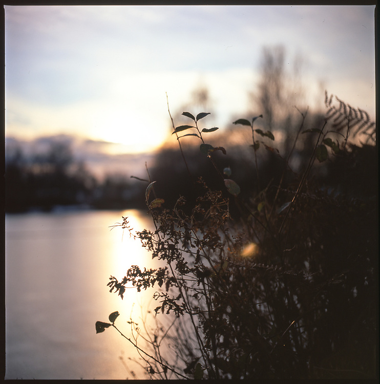 Frozen Lake, Wivenhoe, Colchester, Essex, 2010
