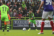 Forest Green Rovers Liam Noble(8) on the ball during the EFL Sky Bet League 2 match between Forest Green Rovers and Exeter City at the New Lawn, Forest Green, United Kingdom on 9 September 2017. Photo by Shane Healey.